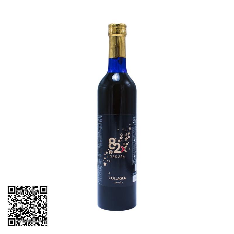 Nước uống Collagen 82x Sakura Premium 120000mg 500ml - Mẫu 2019